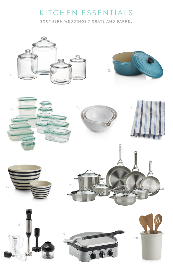 Wedding Registry Favorites from Crate and Barrel Crate