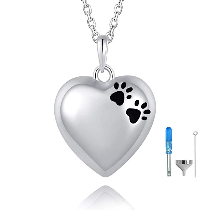 BEILIN Pet Paw Print Cremation Jewelry S925