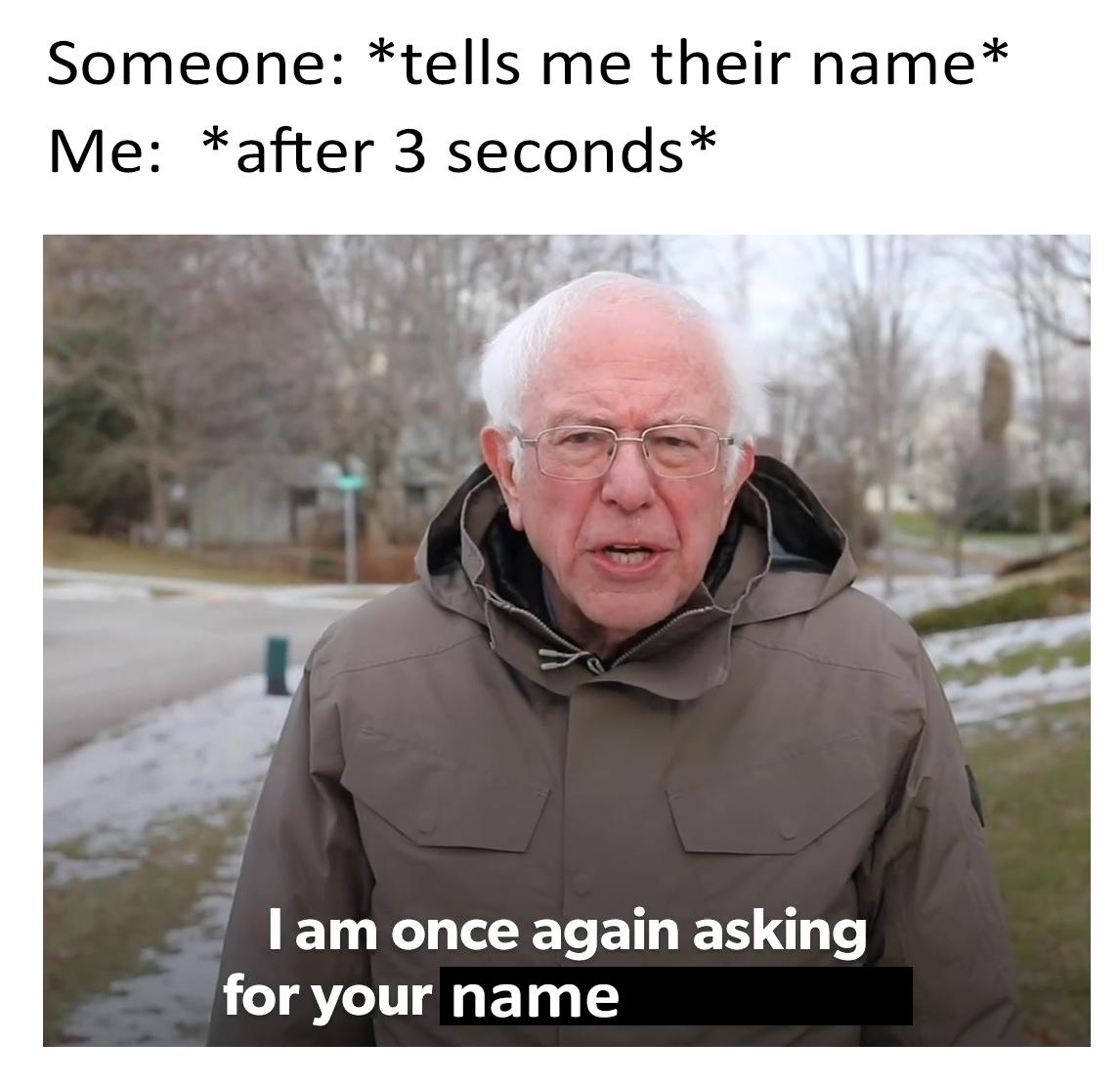 Name Bernie Sanders Meme Stupid Memes Funny Relatable Memes Funny