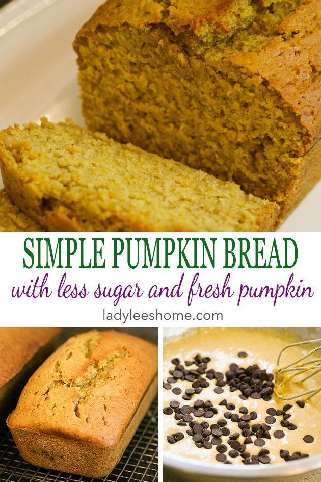Less Sugar Pumpkin Bread Recipe
