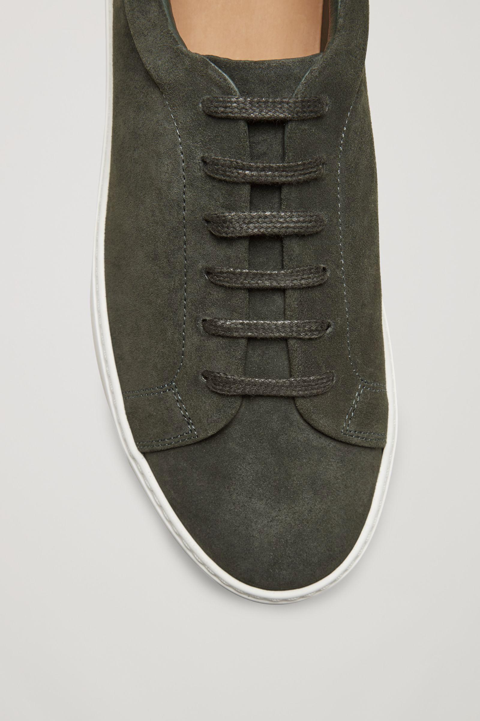 adidas Originals Gazelle Baskets en cuir mélangé vert