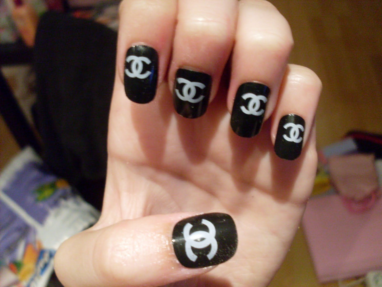 More Chanel Nail Designs..   Designer Nail Galleria   Pinterest ...