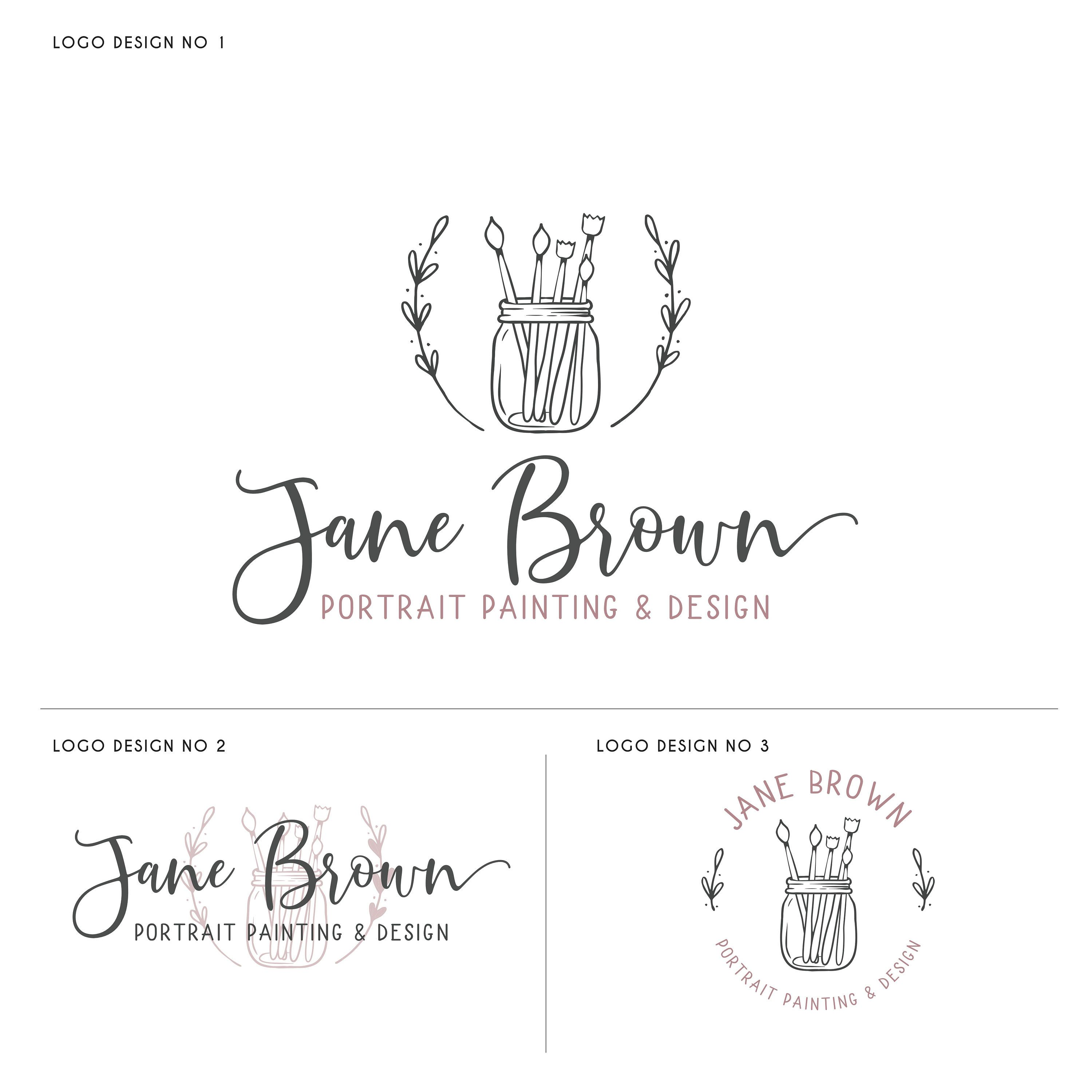 Bakery Logo Design Cake And Patisserie Logo Floral Watercolor