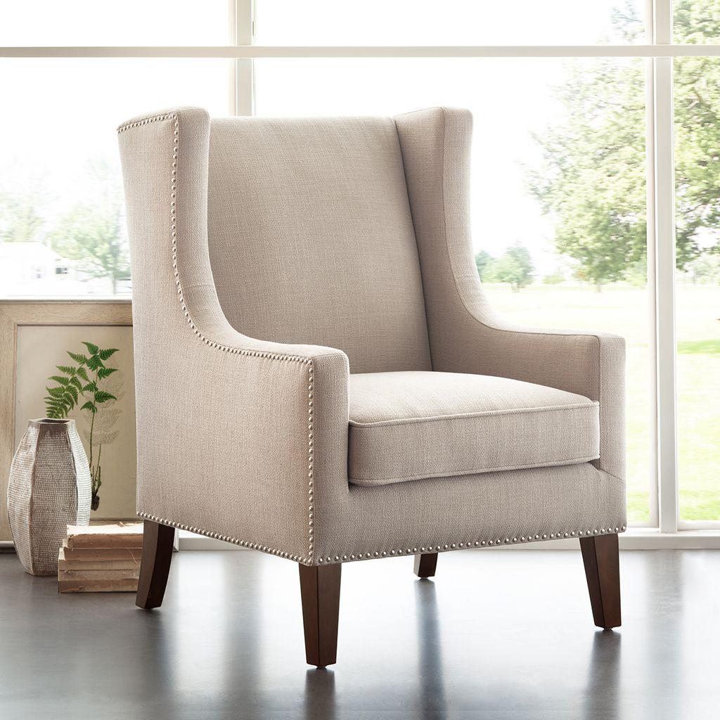 Barton Wing Chair | Pinterest | Herringbone fabric, Nail head and ...