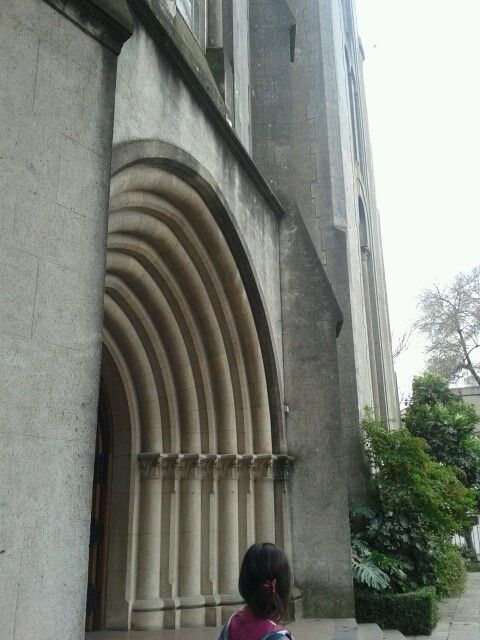 The main door of a church in Vicente Lopez, Buenos Aires