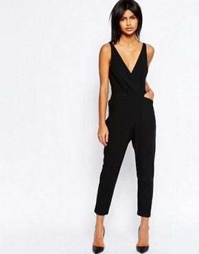 78e839f441765 ASOS Cami Wrap Jumpsuit with Peg Leg   Style Ideas