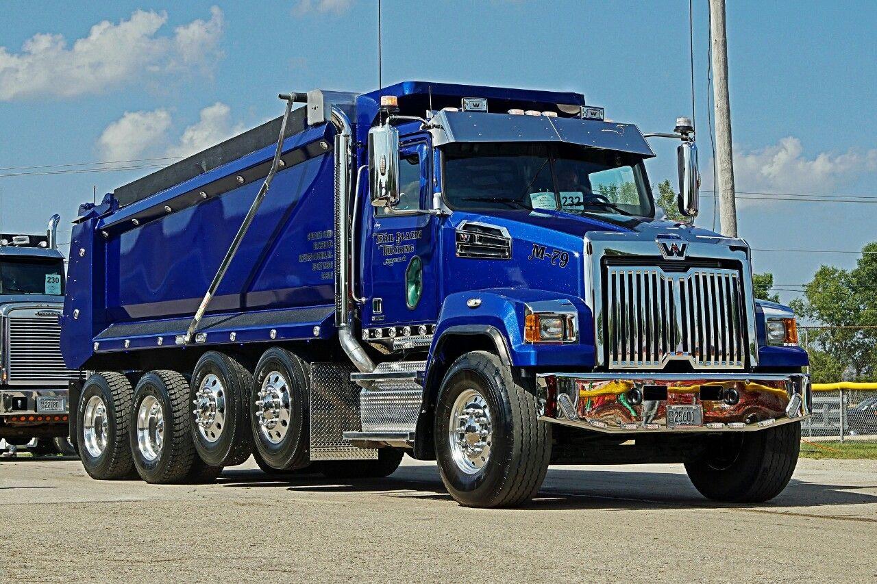 Western Star Custom Quad Axle Dump Western Star Trucks Big Trucks Dumper Truck