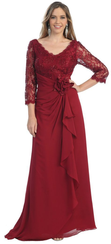 0a86dde39f2 PLUS SIZE MOTHER of the BRIDE GROOM GOWN EMPIRE WAIST MODEST FORMAL CHURCH  DRESS US  139.00