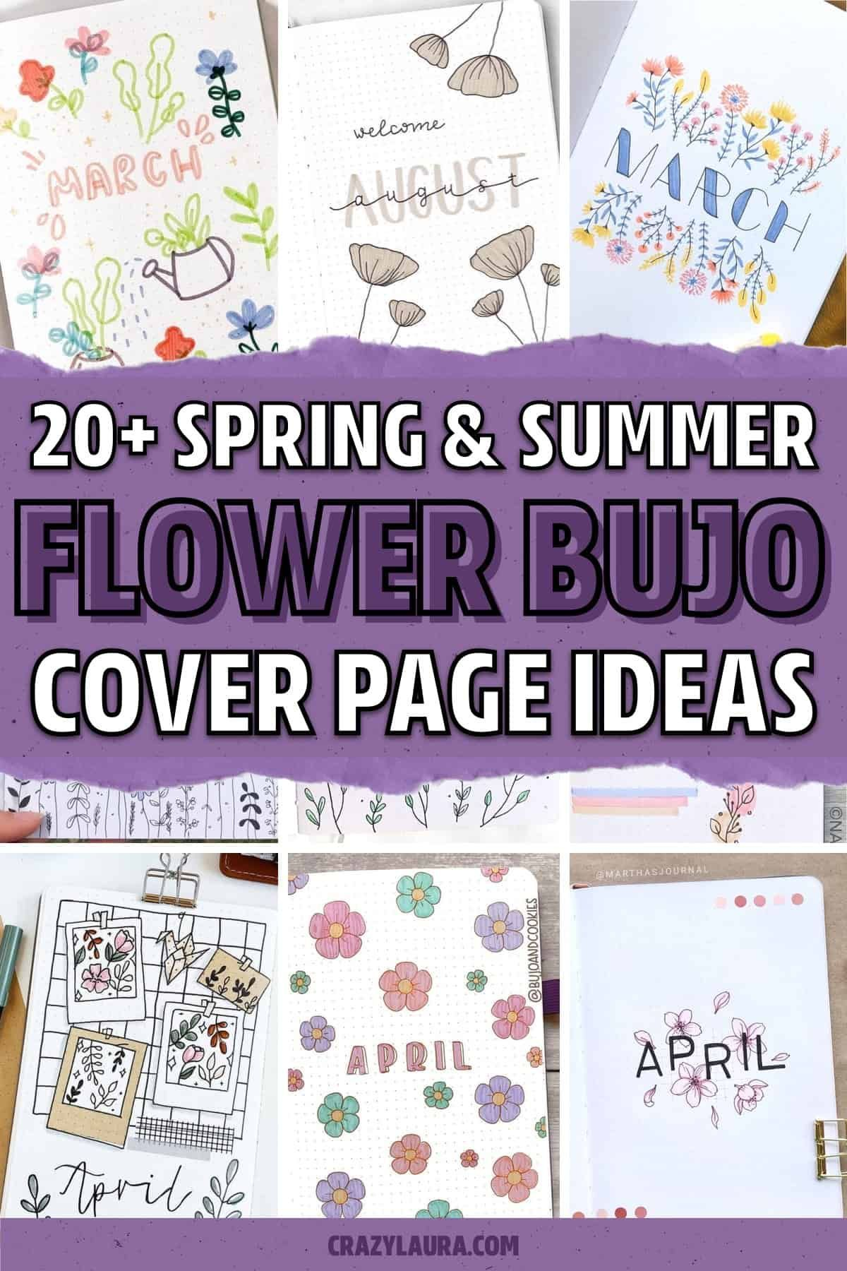 20 Best Bullet Journal Monthly Cover Ideas & Inspiration in 20 ...