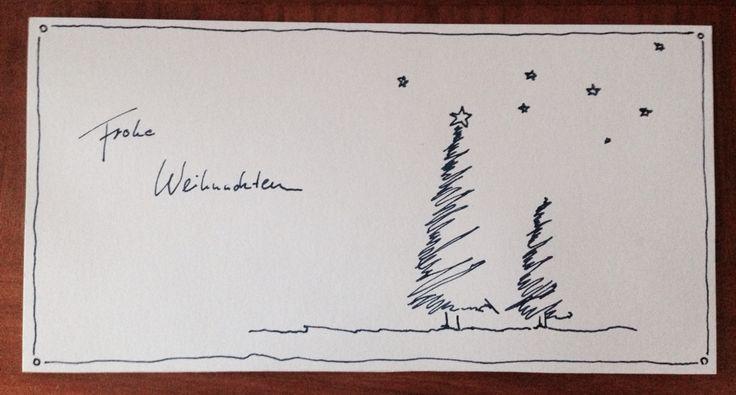 Einfache selbstgemachte Weihnachtskarte, Weihnachtskarte selber machen -   # #cardsketches