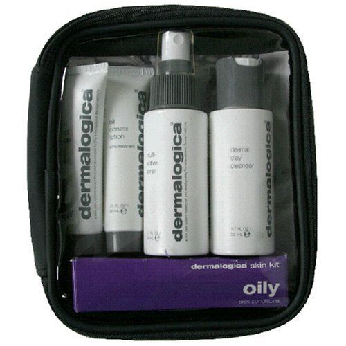 Dermalogica Skin Kit, Oily Skin Conditions, 1 kit by Dermalogica. $28.00. Design House: Dermalogica. This Dermalogica Skin Kit Contains a full regimen of what your skin needs most. If you're a first-time Dermalogica user, then prepare yourself for  great skin. And, if you're already hooked, these convenient travel sizes will  bring professional skin care wherever you're going today. Skin Prep Scrub [0.75 fl oz (22 ml)]; Oil Control Lotion acne treatment [0.75 fl oz (22 ml)]...