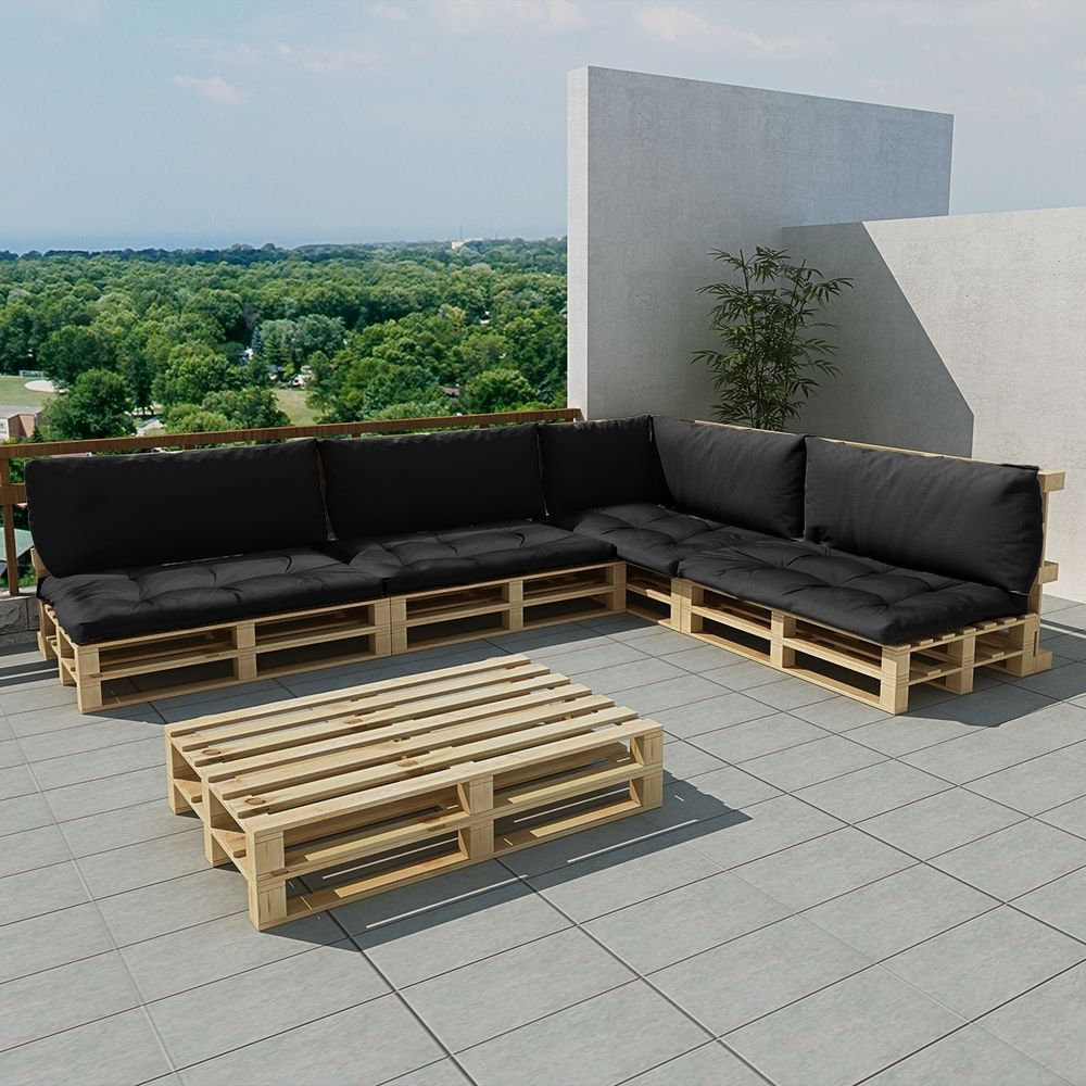 Lounge Garnitur Terrasse. Simple Polyrattan Lounge Mbel Set Fr ...