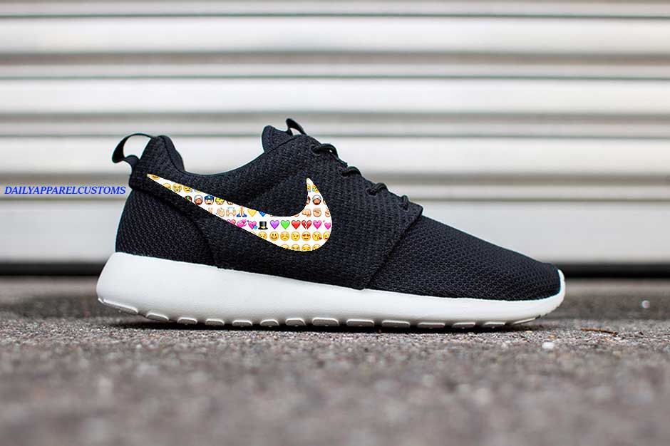 dde3af36bc5c Custom Emojis Nike Roshe Run Shoes Fabric Design Hand Made Personalized  2015 CUSTOMIZED by DailyApparelCustoms on