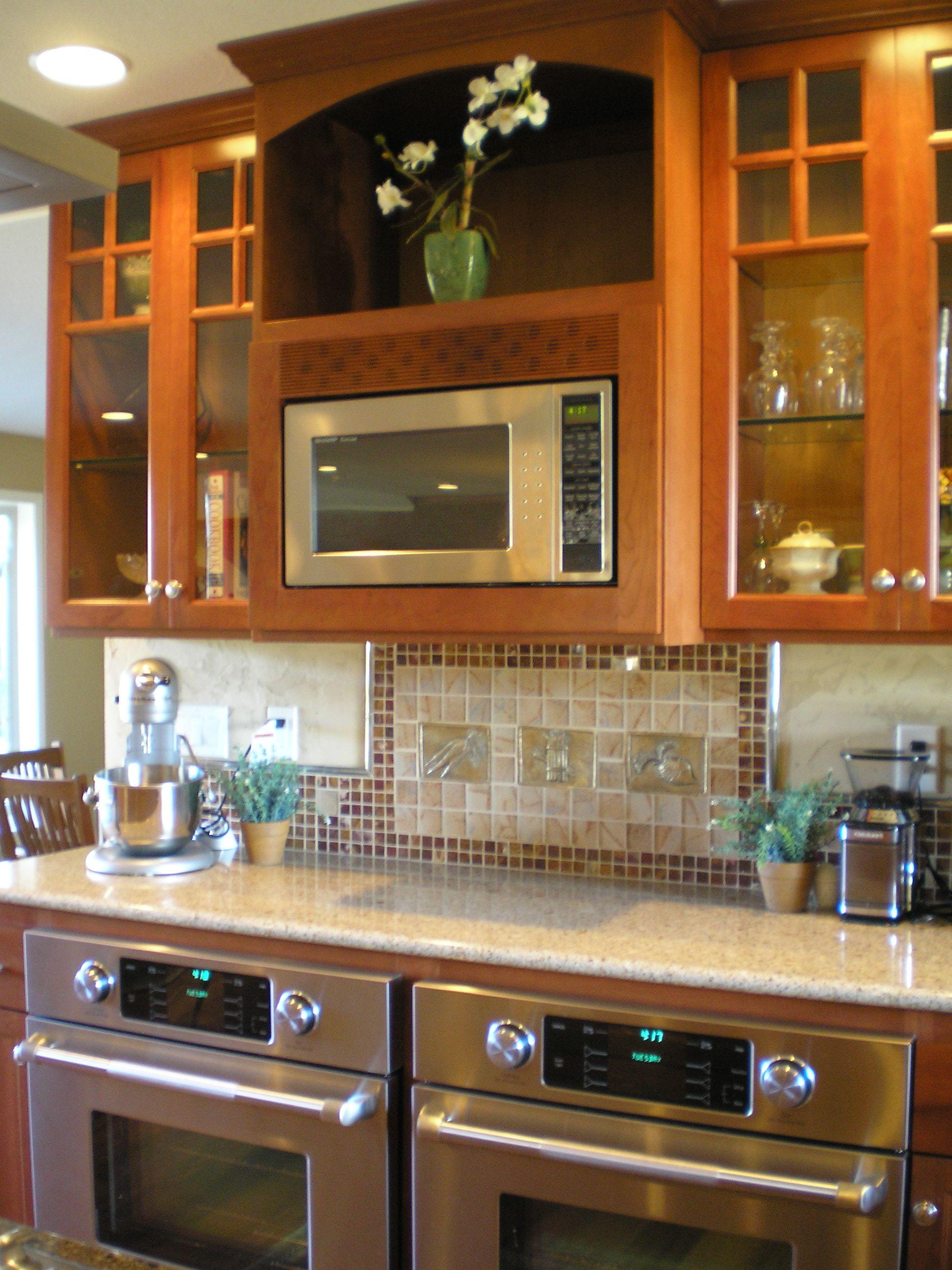Damascus Kitchen Remodel Granite Countertops Cherry Cabinets