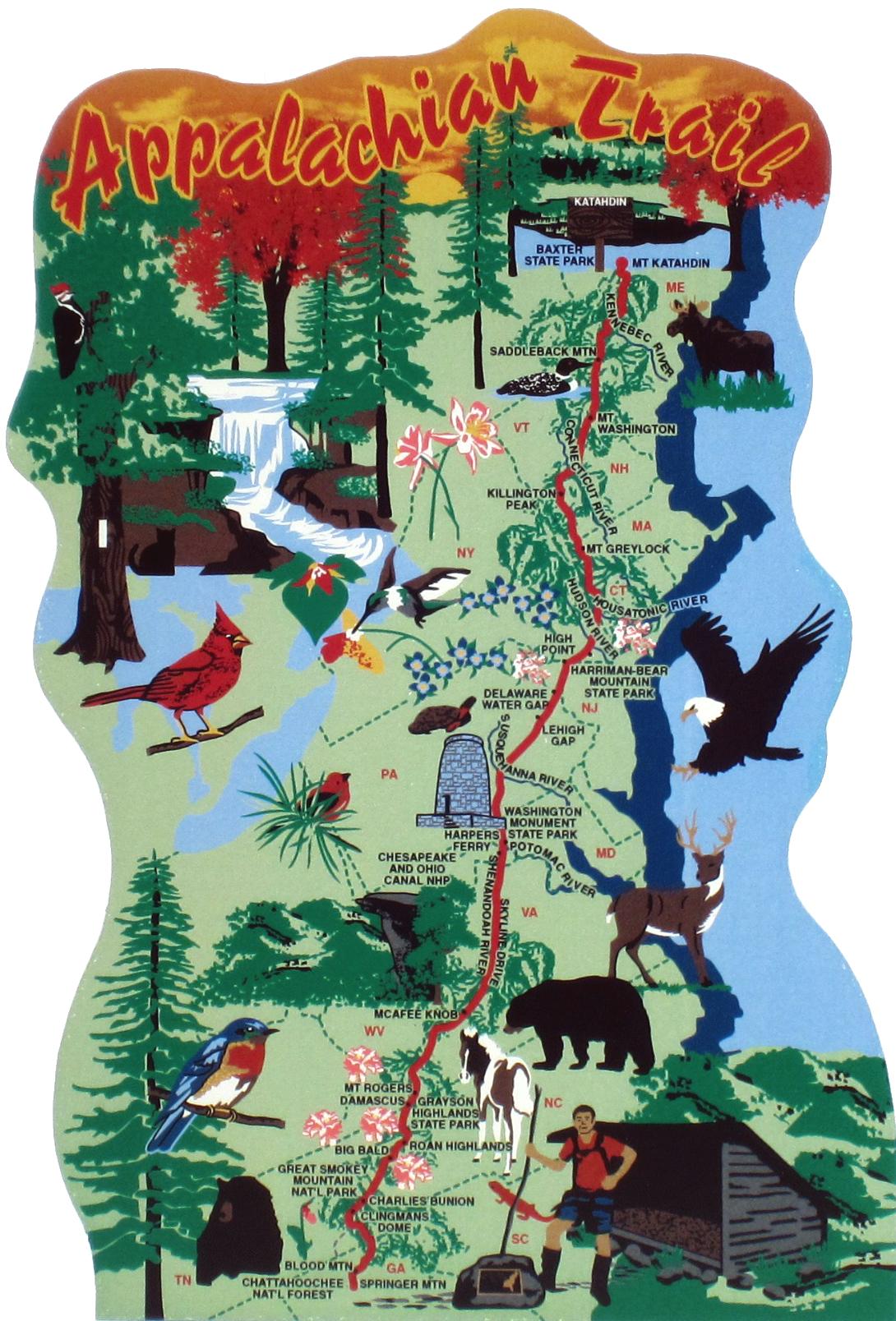 Appalachian Trail Map   Appalachians Trail   Appalachian trail ...