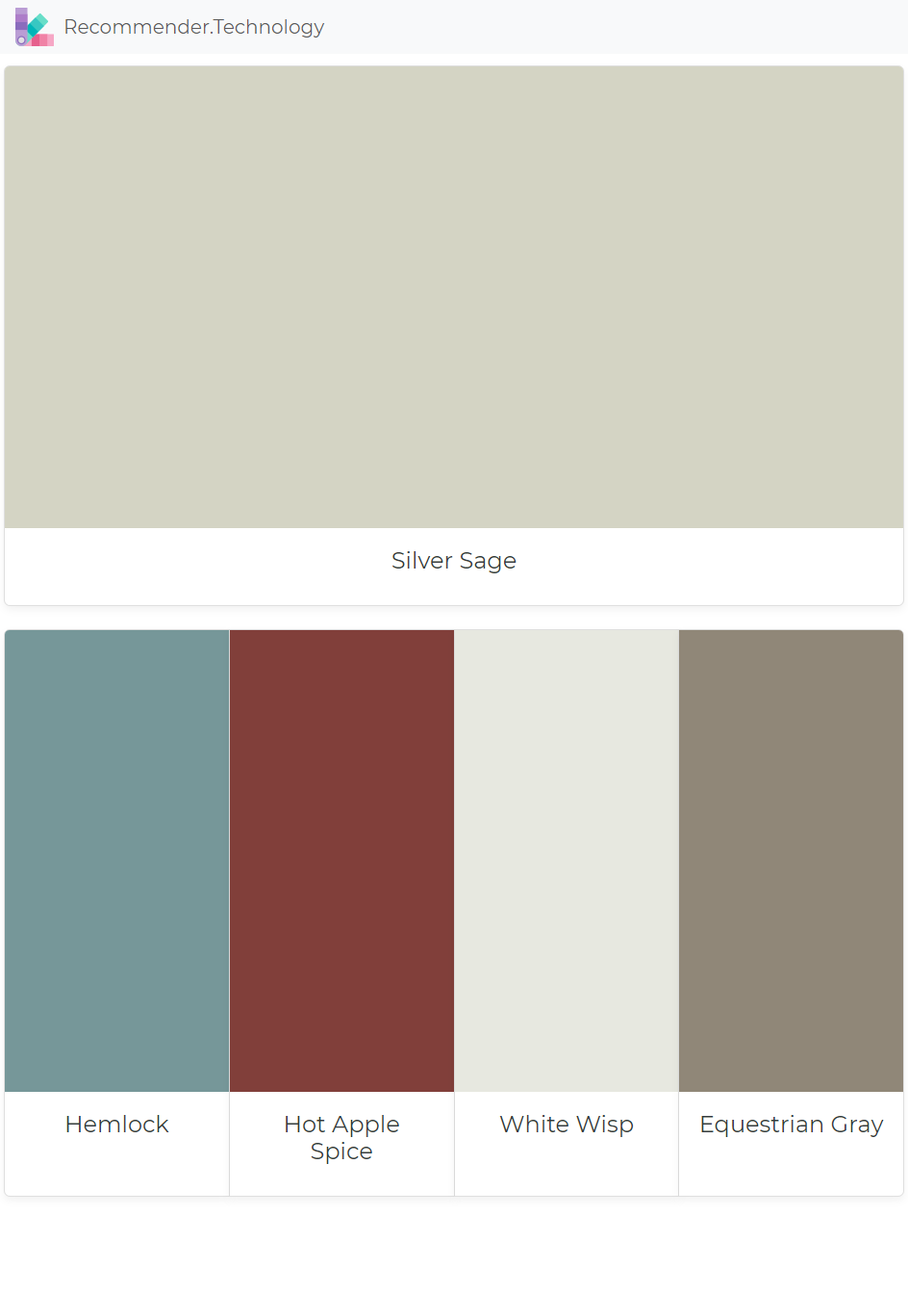 Silver Sage Hemlock Hot Apple Spice White Wisp Equestrian Gray Paint Colors Benjamin Moore Colours That Go With Grey Paint Color Palettes