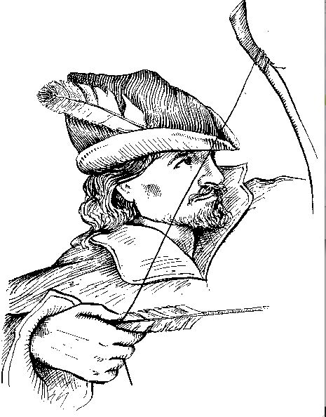 Picture of Robin Hood to color