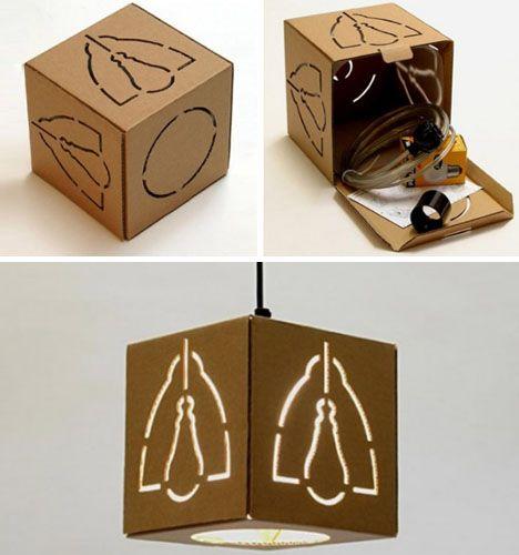 Creative Cardboard Hanging, Floor & Table Lamp Designs