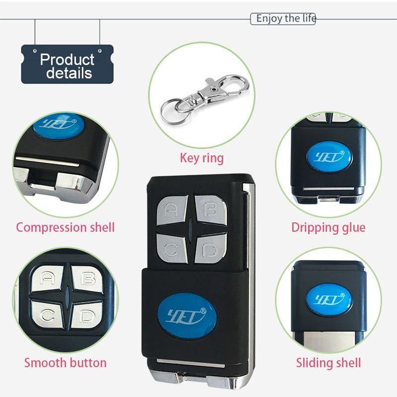 Electric Door Remote Control Yet2133 Universal Garage Door Opener Electric Door Remote Control Yet2133 Characteristics 1 Var Remote Control Remote Electricity