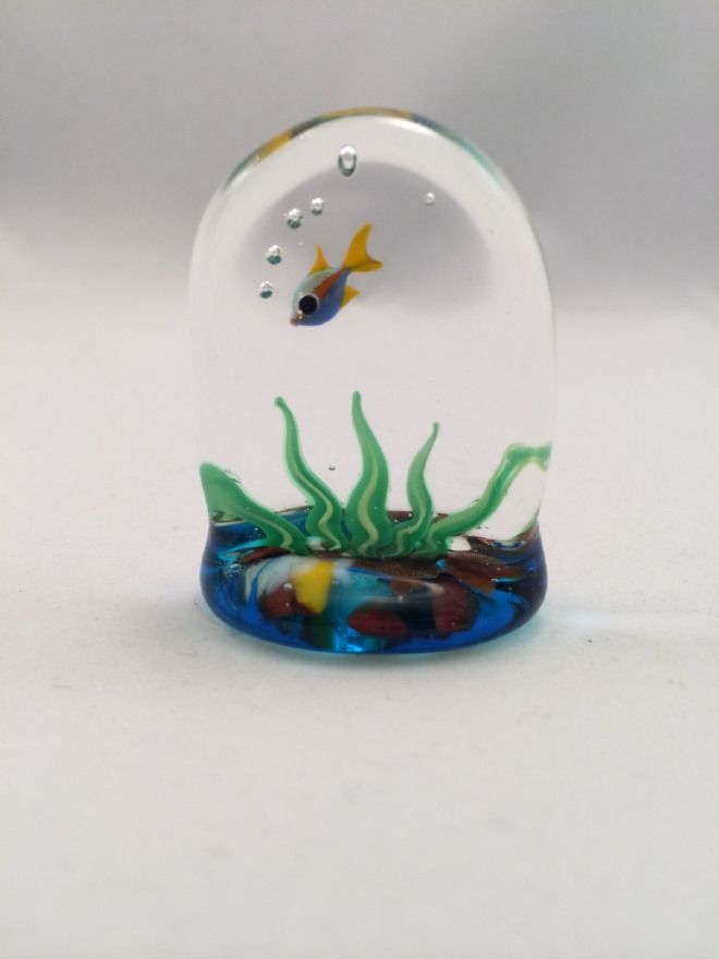 Murano Glass Seaweed Aquarium