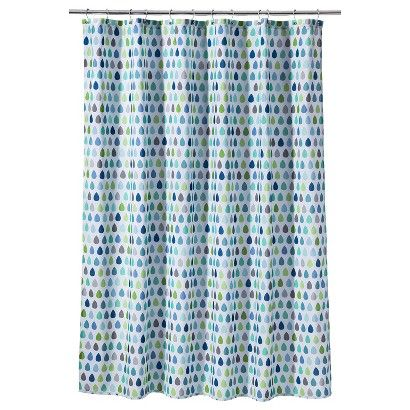 Circo Raindrops Shower Curtain Blue Target Fabric Shower