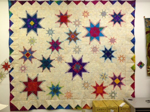 Hoop Sisters Feathered Star Quilt   ... HoopSisters technique with ... : machine quilting hoop - Adamdwight.com