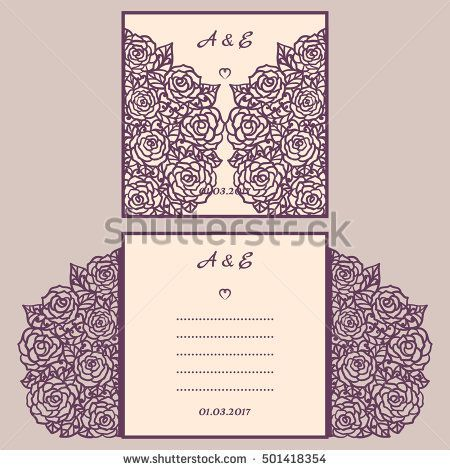 Wedding Invitation Or Greeting Card With Abstract Ornament Vector