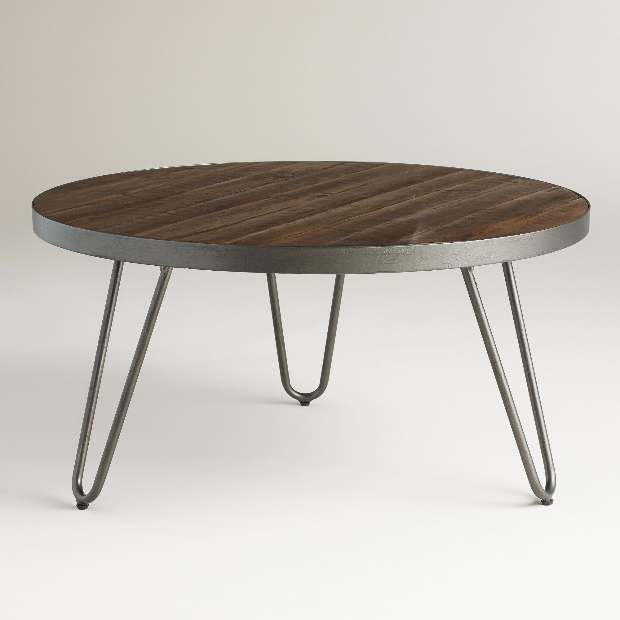 Round Wood Hairpin Coffee Table Round Wood Coffee Table Coffee Table Hairpin Coffee Table
