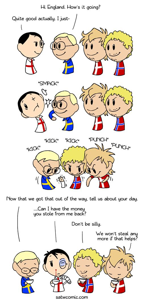 Sour And Sweet Scandinavia And The World Satw Comic Scandinavia Country Humor