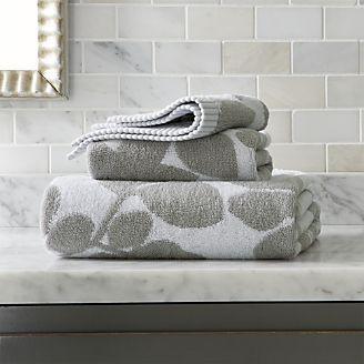 Kukkula Grey Bath Towels
