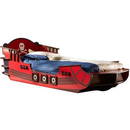 lit enfant 90 x 190 cm pirate crazy shark un lit enfant en forme de bateau pirate couchage. Black Bedroom Furniture Sets. Home Design Ideas