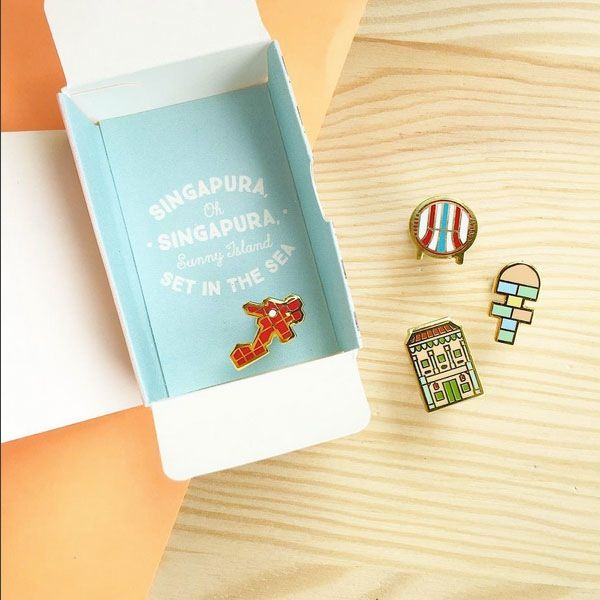 Treasures of Singapore Earrings. Each earring set comes with a little Singapore HDB box. Available at our physical store or online store at http://shop.thelittledromstore.com/product/singapore-earrings