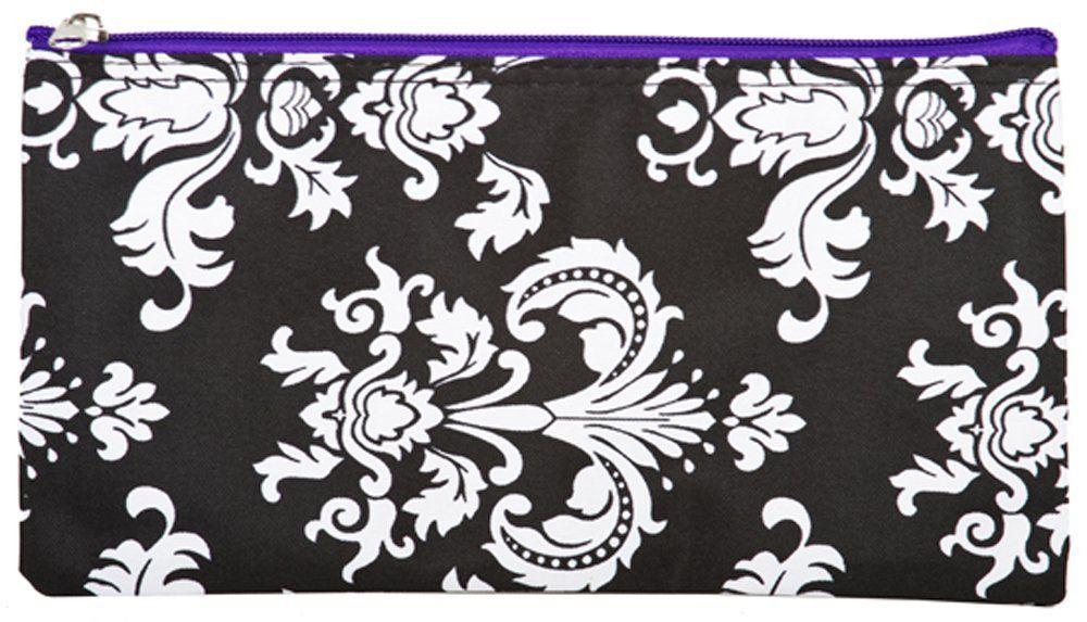 World Traveler Purple Damask Makeup Brush Bag 10-inch *** Visit the image link more details.