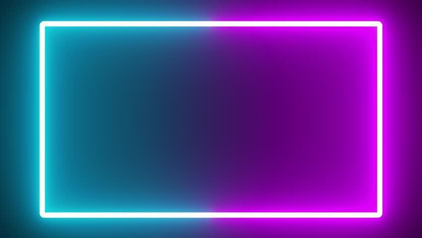 Tv Series Colorful Neon Glow Stock Footage Video (...