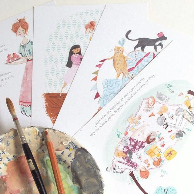 Behind the scenes of The Adventures of Miss Petitfour with illustrator Emma Block. Click to see more of her beautiful illustrations on her Instagram!