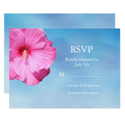 Tropical Rsvp Watercolor Card Cards And Beach Wedding Invitations