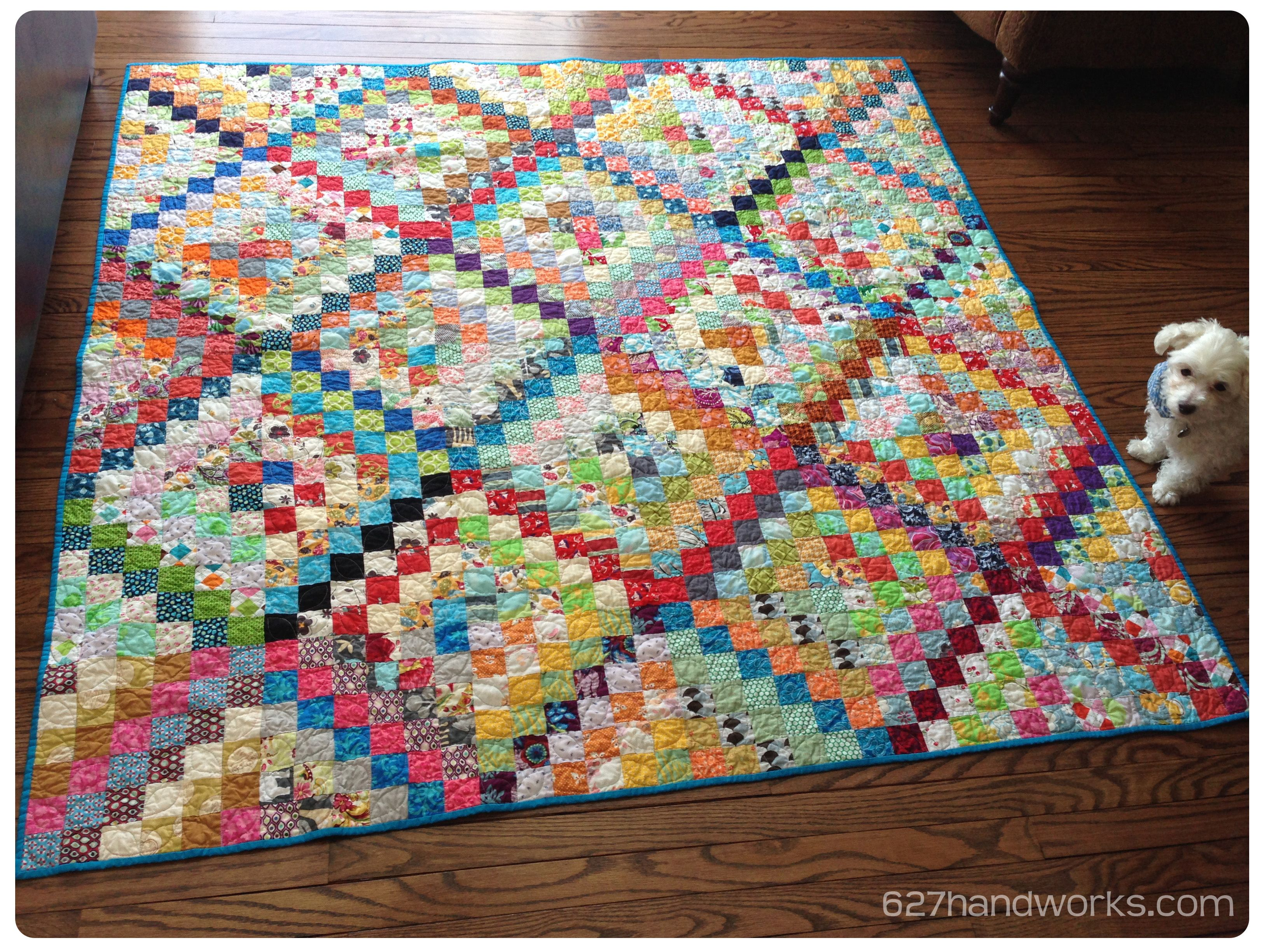 Scrappy Trip Around the World   Done! | Quilts, Beginner quilts
