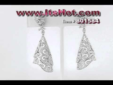 ItsHot.com Designer Jewelry - Cutout Diamond Earrings - http://videos.silverjewelry.be/earrings/itshot-com-designer-jewelry-cutout-diamond-earrings/