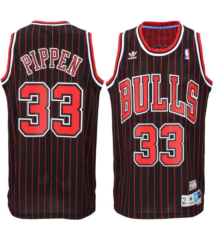 quality design 056a1 9bb9e Chicago Bulls Scottie Pippen Throwback  33 Pinstripe Away Jersey