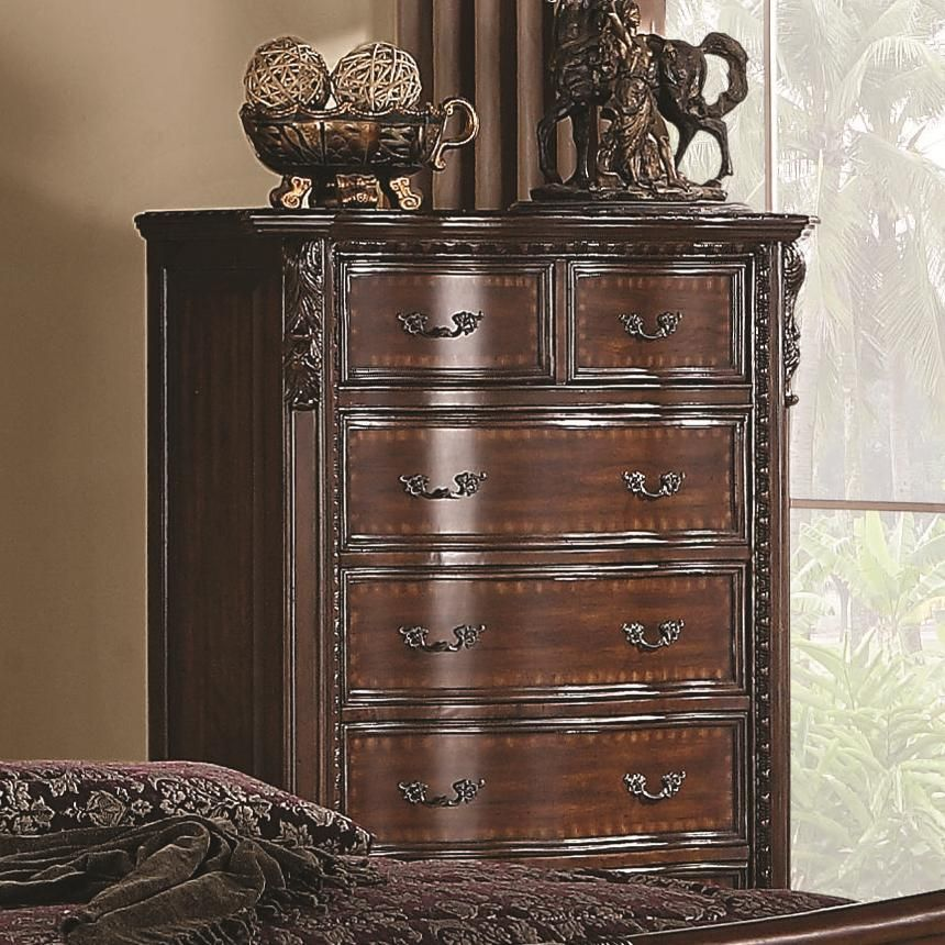 Coaster Maddison Brown Cherry 6 Drawer Chest In 2019