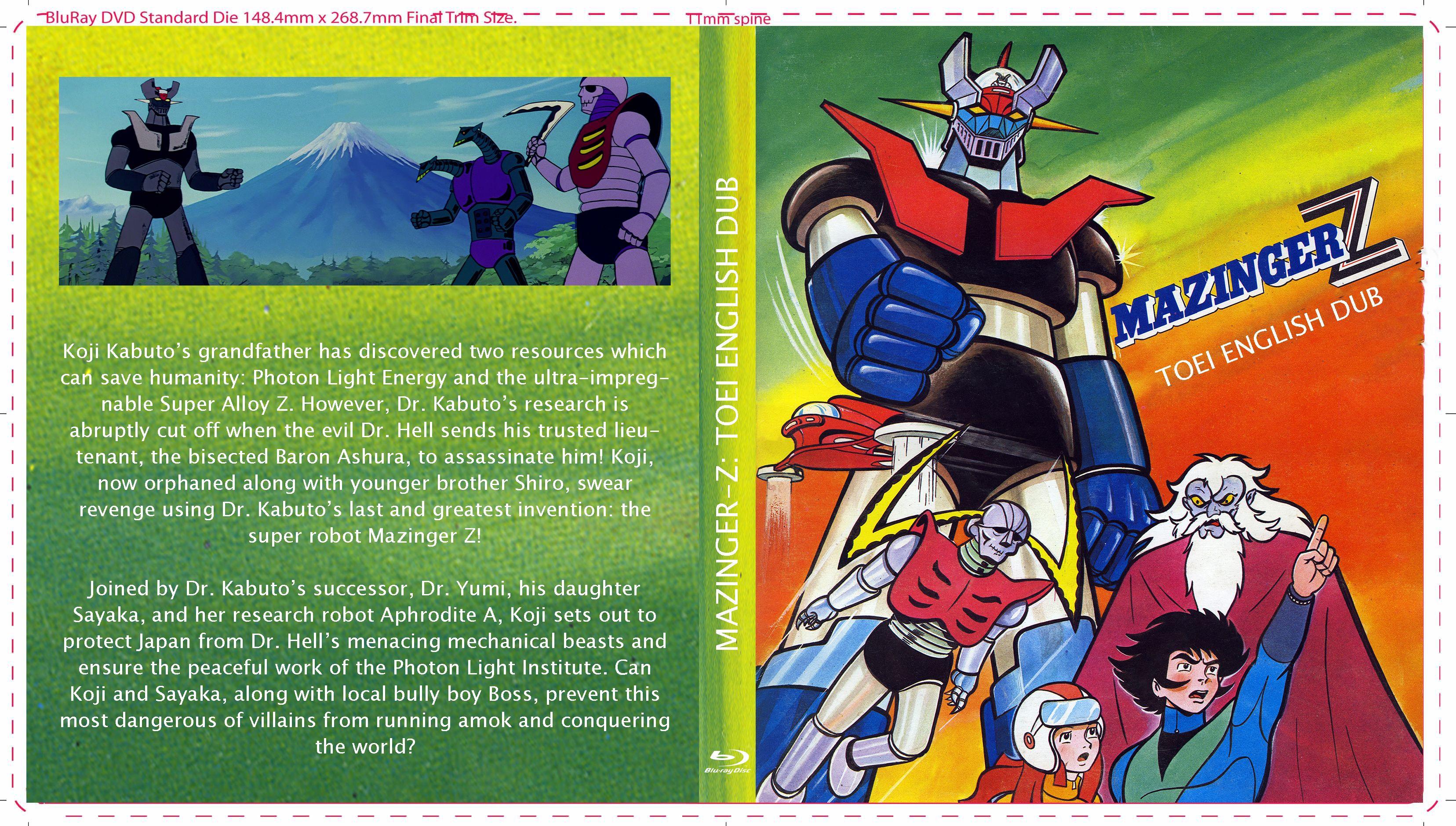 Impreg Comics Amazing mazinger-z: toei enlish dub (blu-ray cover) | mazinger-z (1972