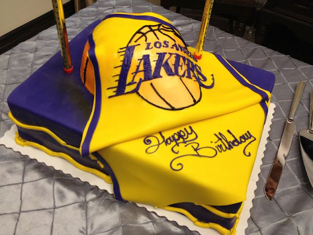 Fantastic Lakers Cake Sports Birthday Cakes Cake For Husband Basketball Funny Birthday Cards Online Sheoxdamsfinfo