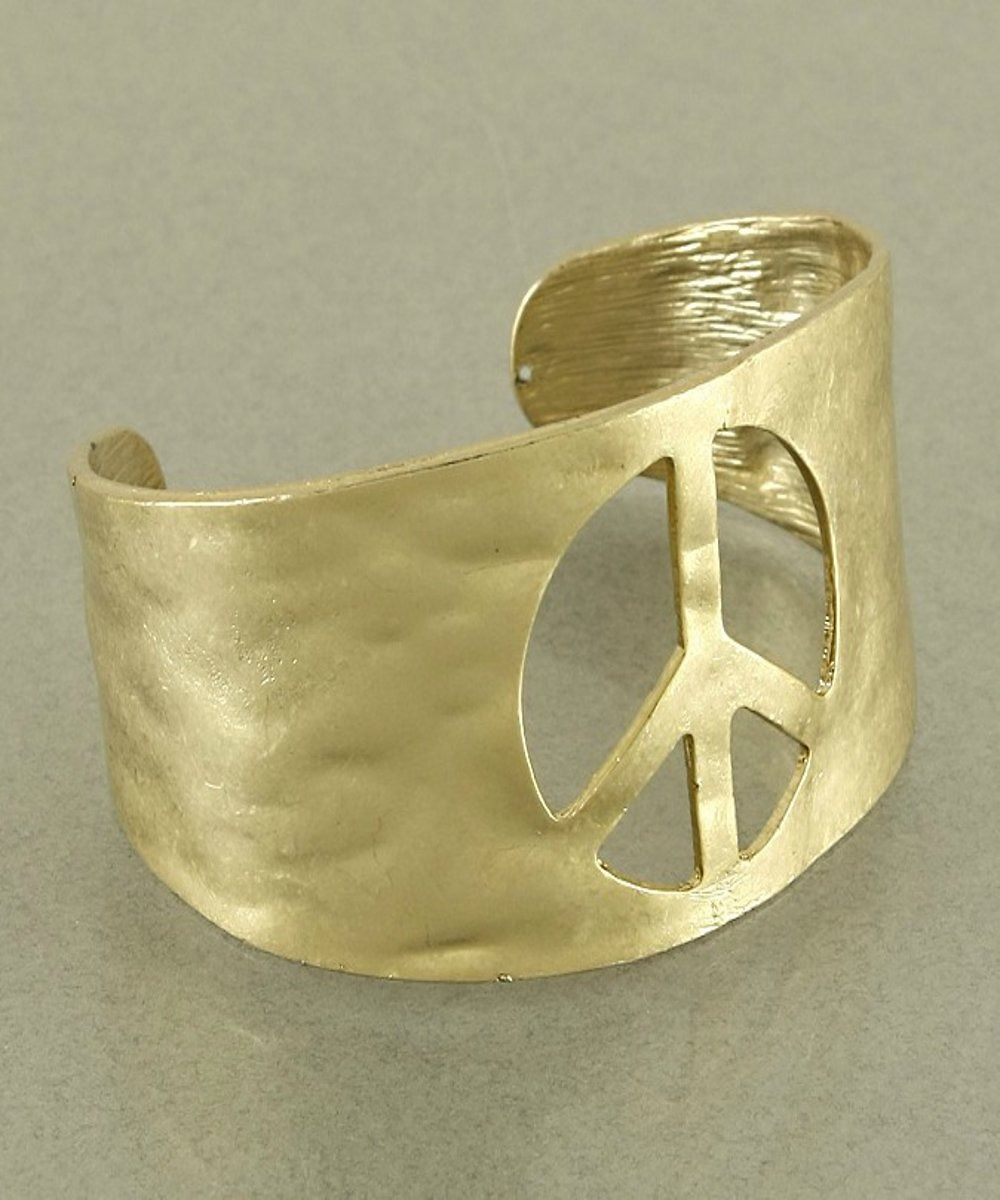 Goinu for the gold peace bangle bracelet fashion