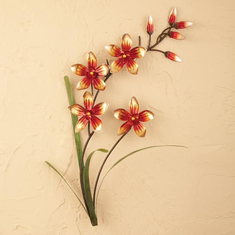Magnificent Metal Flowers Wall Art Motif - Wall Art Collections ...