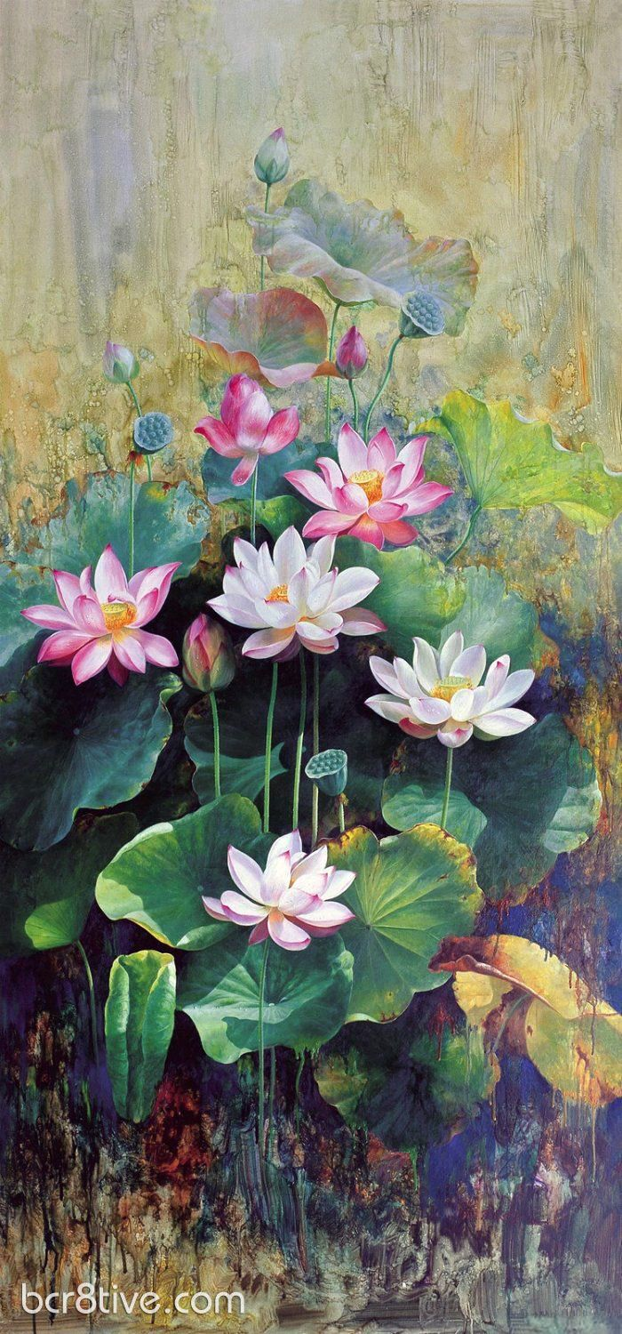 Floral oil paintings by wu furong art paintings pinterest oil painting by wu furong lotus flower paintings lotus painting oil painting flowers izmirmasajfo
