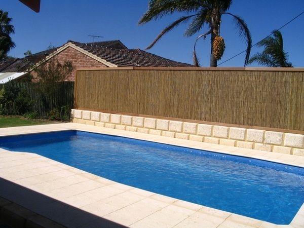 Swimming Pool Privacy Fence Bamboo Fence Garden Fence Ideas Patio Design Ideas Eco Friendly Garden Garden Fence Fence Decor