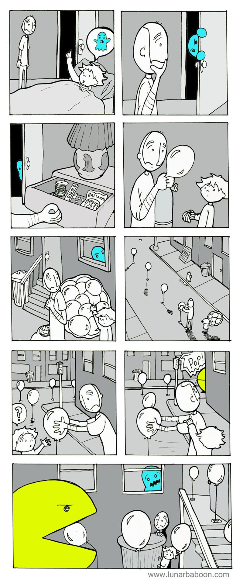 lunarbaboon - Comics - Ghost!