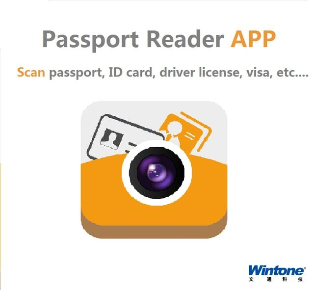 Wintone Passport Reader Id Card Scanner Ocr App Solution For Android Ios Travel Insurance Readers Check In App