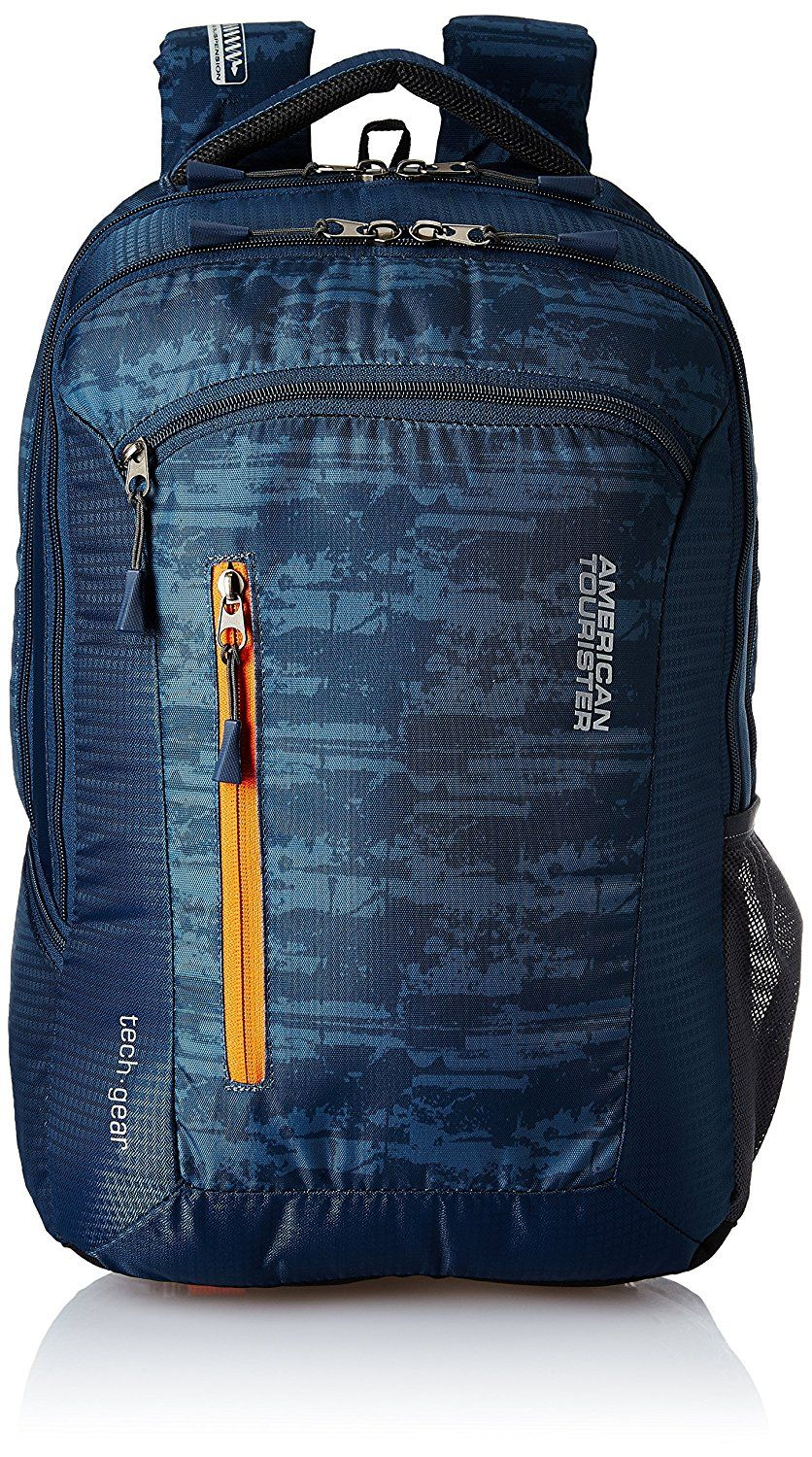 1a350031e86 American Tourister Polyester 28 Ltrs Blue Laptop Backpack #bag #bags  #laptop #menstyle #mensfashion_guide