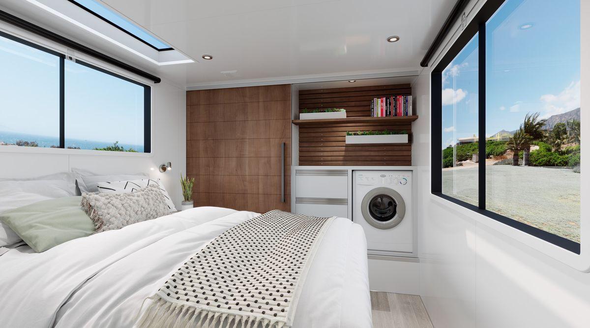 Luxury offgrid travel trailer is like an ultramodern